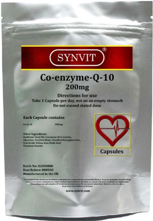 SYNVIT® Co Enzyme Q10 CoQ10 200mg Capsules
